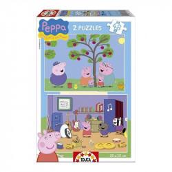EDUCA PUZZLES 2x48 PEPPA...