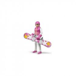 BRUDER Esquiadora 60420