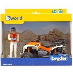 BRUDER Quad con conductor...
