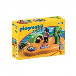 Playmobil 1.2.3 Isla Pirata...