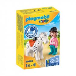PLAYMOBIL 1.2.3 Jinete con...