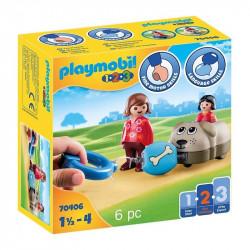 PLAYMOBIL 1.2.3 Mi Perro 70406